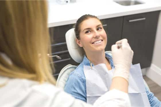 dental veneers female patient examination