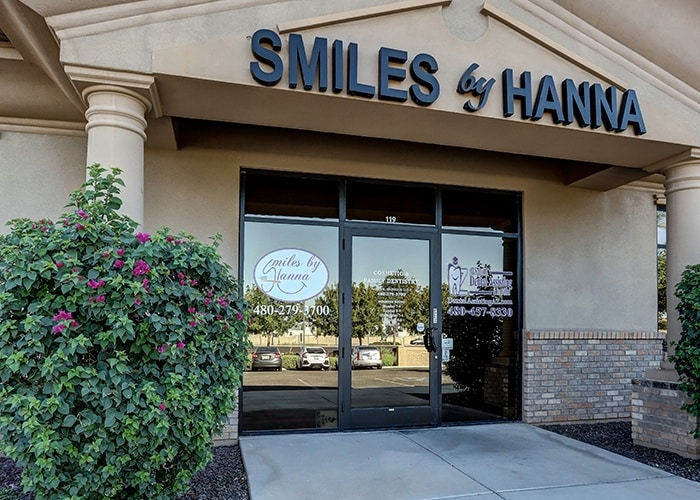 front area of smiles by hanna