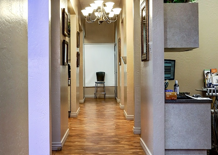 view of hallway at dental clinic in gilbert