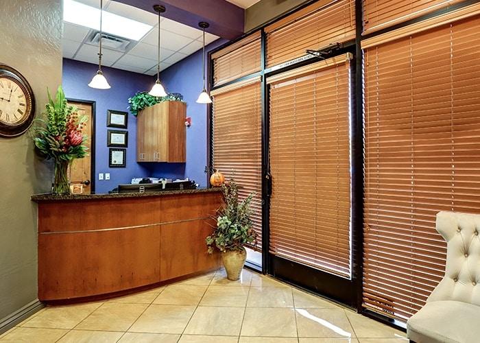 reception lobby of smiles by hanna