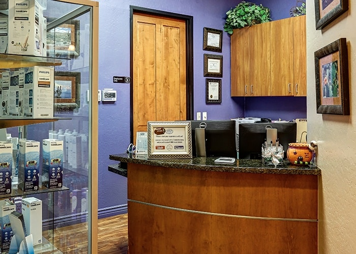 View of Dental Reception Area Desk