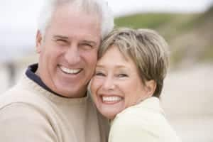 Mature Couple Smiling and Hugging